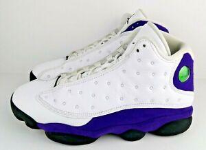 Nike Air Jordan 13 Retro Lakers White Black Court Purple Size 9.5 414571-105