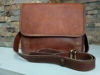 Men & udult Leather Messenger Laptop Bag Computer Distressed Satchel Briefcase