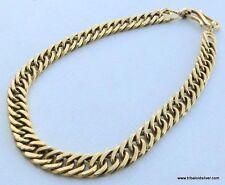 VINTAGE ANTIQUE SOLID 22 CARAT GOLD HANDMADE LINK CHAIN BRACELET BANGLE BB ECL