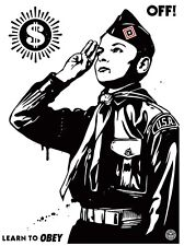 Shepard Fairey Learn To Obey Poster Print Screenprint Art by  Obey Giant #/450 !