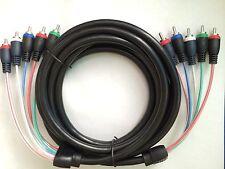 STEREN 12ft Mini Component HDTV Audio/Video 5-RCA Cable PP-257-612BK