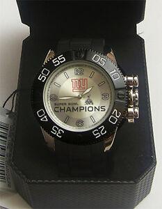 New York Giants XLVI Super Bowl Watch Game Time LE Superbowl Wristwatch