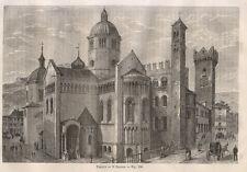1865 Trento il Duomo  xilografia