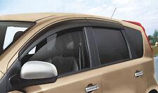Genuine Nissan Note Genuine Window Wind/RainDeflectors Front+Rear Set H08009U060
