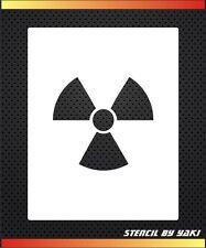 Radiation Airbrush Stencil Template by Yaki Decoration Tattoos Cake Biohazard