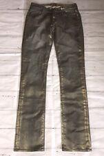 Rich & Skinny Blue & Gold Glitter Spray Effect 'Goldie' Jeans W27 L34 Tall