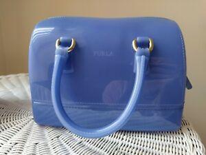 Furla Candy Bag Dome  Blue Lilac Handbag
