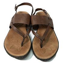 BOC Born Concept Lotte Slide Sandals Women's Brown Faux Leather Slip On - US 8 M