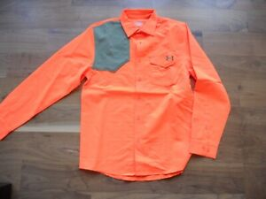 NWT Under Armour Lightweight Upland Shirt Blaze Orange Size Medium