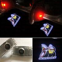 2x Scat Pack Logo Ghost LED Door Lights Laser Projector HD For Dodge Challenger