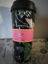 NEW KATE SPADE NEW YORK thermal OWL birch way Cup Coffee tumbler MUG lid travel