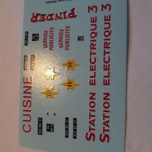 decals decalcomanie déco pinder station electrique  1/43