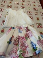 Monsoon Floral Skirt Age 3 & Cream Top Age 5