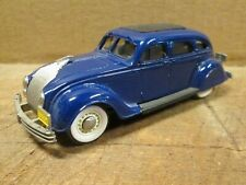 Blue 1934 CHRYSLER AIRFLOW SEDAN - 1:43 Scale Die Cast by BROOKLIN, NOS in Box