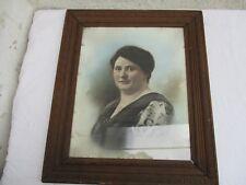 Grande photo dans encadrement ancien bois et sous-verre portrait art-déco