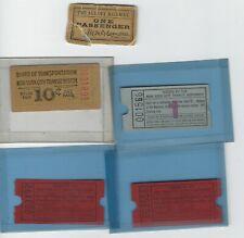 5 Ny State transit tickets, Albany Torn) & New York City