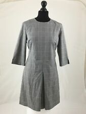 Warehouse Womens Grey Box Checked Dress Size 12