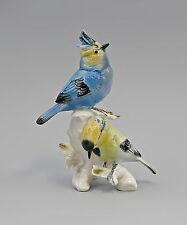 PORCELLANA PERSONAGGIO uccelli ENS re Mora-gruppo 12x7x17,5cm 9941813