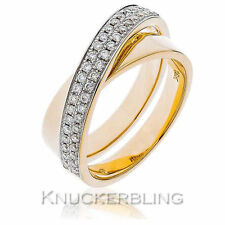 Band Round Not Enhanced Yellow Gold Fine Diamond Rings
