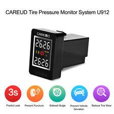 TPMS Car Tire Pressure Wireless Monitoring System 4 Built-in Sensors LCD f Honda
