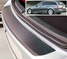 Mercedes C-Class W204 Estate - Carbon Style rear Bumper Protector