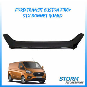 STX BONNET GUARD - BUG/ STONE PROTECTOR – BLACK FOR FORD TRANSIT CUSTOM 2018 ON