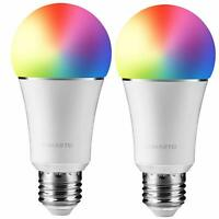 JOMARTO Smart WiFi LED Light Bulb, 2 Pack Compatible with Alexa/Google Home, 60W
