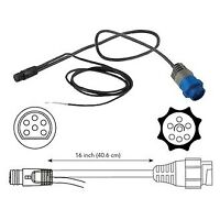 MotorGuide 8M4001959 6-Pin Transducer Adapter Cable for Lowrance