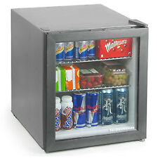 Frostbite Mini Fridge Silver | 49ltr Holds 45x330ml Cans - Compact Bar Fridge