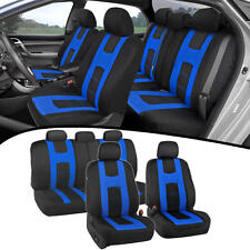 Seat Covers For Car SUV Van New Rome Design Poly Extra Padding Blue Fit Set