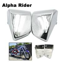 1 Pair Chrome L&R Battery Side Covers for Honda Shadow ACE VT400 VT750 1997-2003