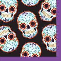 Day of the Dead Halloween Skull 16 Ct Beverage Napkins