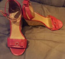 Marc by Marc Jacobs 36.5 36 1/2 6.5 red wedge sandals heels shoes
