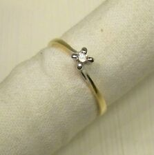 Vintage Ring 1998 White Gold and Yellow 18 CT Diamond Handmade 20118