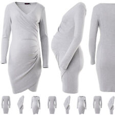 Purpless Maternity New Contemporary Side Pleated Maternity Dress 6232
