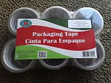 6 Rolls Super Clear Packing Packaging Shipping Tape 188in X 273y 48mm X 25m