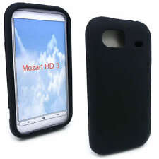 Black Silicone Case Cover for HTC 7 Mozart / T8698 + SP