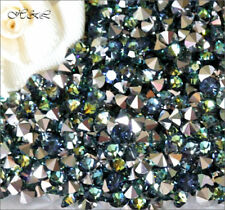 Preciosa Sahara Crystal Sea Blue Green Point Chatons Gold foil MC 3mm ss12 12ss