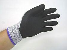 13 Gauge Gray/Black HPPE Cut Level 5 Resistant Liner Nitrile Coated Glove 5 Pack