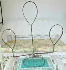 Vintage 3 Tiered Metal Wire Hat Stand Wig Holder Old Store Display Fixture Exc
