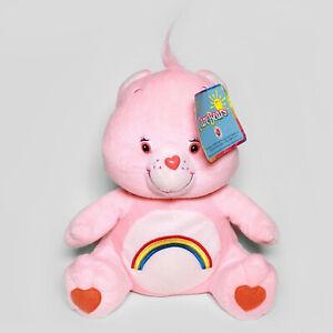 "CHEER BEAR - Pink Sitting Care Bears 11"" Plush - 2005 Nanco - Comes with Tag"