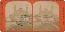 Paris Palais de Trocadéro Expo Universelle 1878 Photo Stereo Vintage Albumine