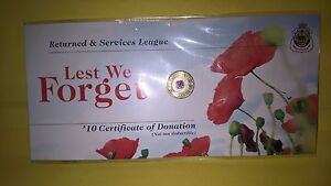 Australia 2012 Red Poppy RSL $2 Coin  Low Mintage first coloured $2 coin RAM