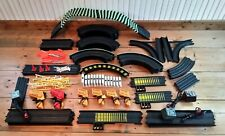 76pc TYCO Track and Accessories Bundle NITE GLOW ~ Flags/Poles/Railing
