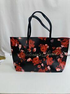 Victoria Secret Floral Tote Rose Flowers Weekender Bag Shoulder Limited Edition