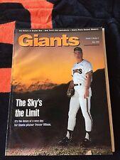 1992  SAN FRANCISCO GIANTS MAGAZINE TREVOR WILSON COVER