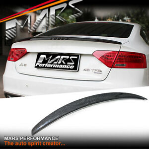 S5 Style Carbon Rear Trunk Lip Spoiler Wing for AUDI A5 8T 2 Doors Coupe Bodykit