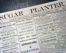 New listing Very Rare Confederate West Baton Rouge La Louisiana Civil War 1861 Old Newspaper