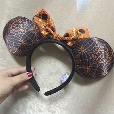 New Disney Parks Minnie Mouse Ears Orange Halloween Headband Costume Party