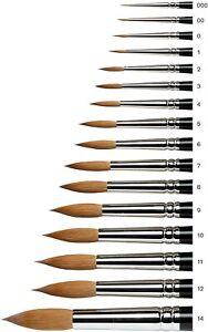 Winsor & Newton Series 7 Kolinsky Sable Watercolour Brushes Artists Brush Art
